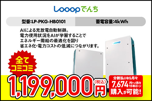 Looopでんち 4.0kWh 5.5kWh LP-PKG-HB0101