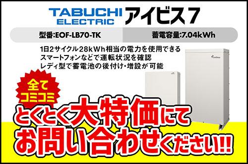 田淵電機 7.04kWhエネテラスEIBS7 EOF-LB70-TK