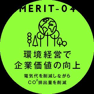 [MERIT04] 環境経営で企業価値の向上