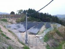 実績・評判口コミ画像01-産業用太陽光発電システム 140kW 徳島県 山の上