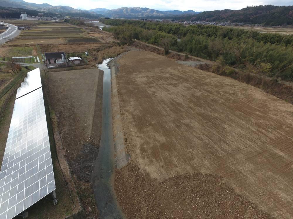 実績・評判口コミ画像08-滋賀県高島市 ・太陽光発電用地造成 ・用悪水路改修工事