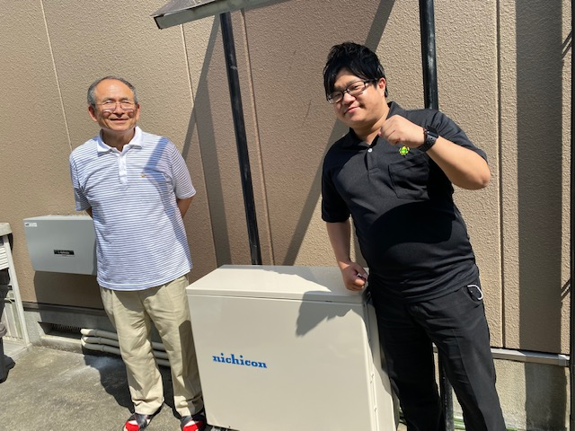 実績・評判口コミ画像01-ニチコン単機能型 蓄電池 大阪府 H様